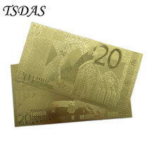 20 Euro Bill Limited European Bank Note 24 Kt 0.999 Gold Foil Plated Home Decoration(China)