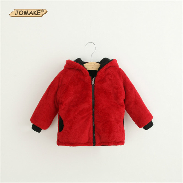 A Two Way Wear Hooded Coat Baby Boys And Gilrs Winter Outwear Soft Flannel Fashion Zipper Clothes Casual Toddlers Wear Kids Coat