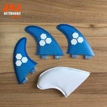 FREE shipping fiberglass and honeycomb blue FCS M G5 surfboard fin thruster FCS fin  future fin FCS G5 fins