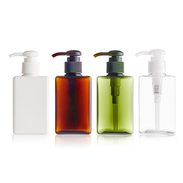 1pc 150ml New Shampoo Bottles Empty Lotion Container Pressed Pump Dispensing Spray Small Bottle Body Wash Refillable In