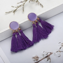 Bohemia Tassel Stud Earrings Hanging Earings Wedding Long Fringed Jewelry Gifts for Women