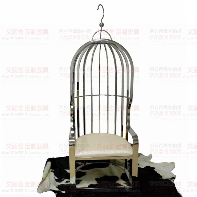 Modern Stainless Steel Birdcage Chair After Chair Creative Leisure Chair  Image Birdcage Chair Custom Designer Hotel