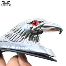 цена на Universal Motorcycle Bike Front Fender Mudguard Ornament Eagle Head Statue Fender Bonnet Emblem Motorbike ATV Dirt Bike