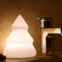 Silicone Touch Control Christmas Tree Night Light Lamps 7 Colors Rechargeable Baby Nursery Gift Home Bedside Decor