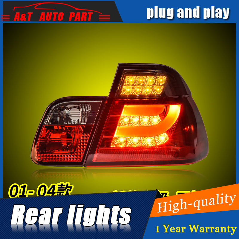 Car Styling LED Tail Lamp for E46 3 series Taillight assembly 2001-2004 for E46 Rear Light DRL+Turn Signal light with 4pcs.