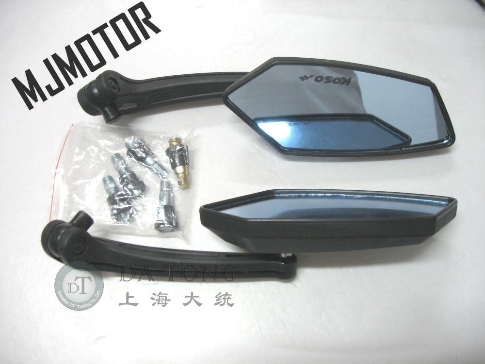 (1pair/lot) MJMOTOR-K High Quality Mirror Set For Scooters Motorcycles Yamaha Kawasaki Honda ATV Moped Scooter Part
