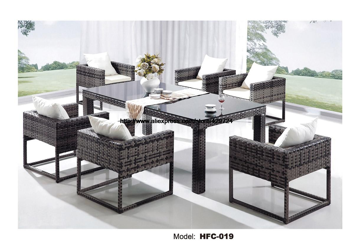 Creative Outdoor Wicker Set Graden Rattan Furniture Leisure Outdoor Desk Table Chairs Balcony Garden Furniture Combination