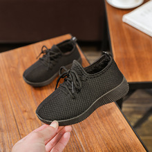 Red Sneakers Kids Girl 2018 Spring/Autumn Mesh Shoes Casual Black School Sport for Children