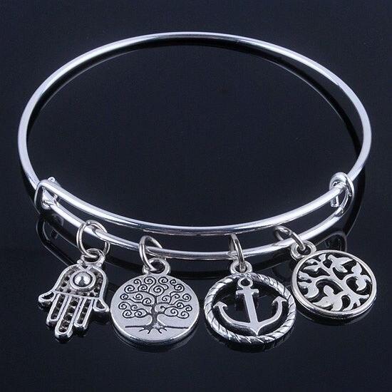 Wire Bracelets With Charms: Aliexpress.com : Buy Hot Sale Plated Silver Bracelets
