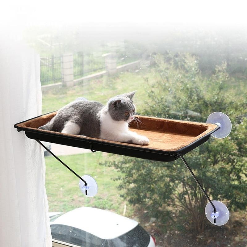 Chats pour animaux de compagnie ventouse fenêtre lits chaise longue aspiration hamac chat fenêtre étagère chat furet Pet maison fournitures