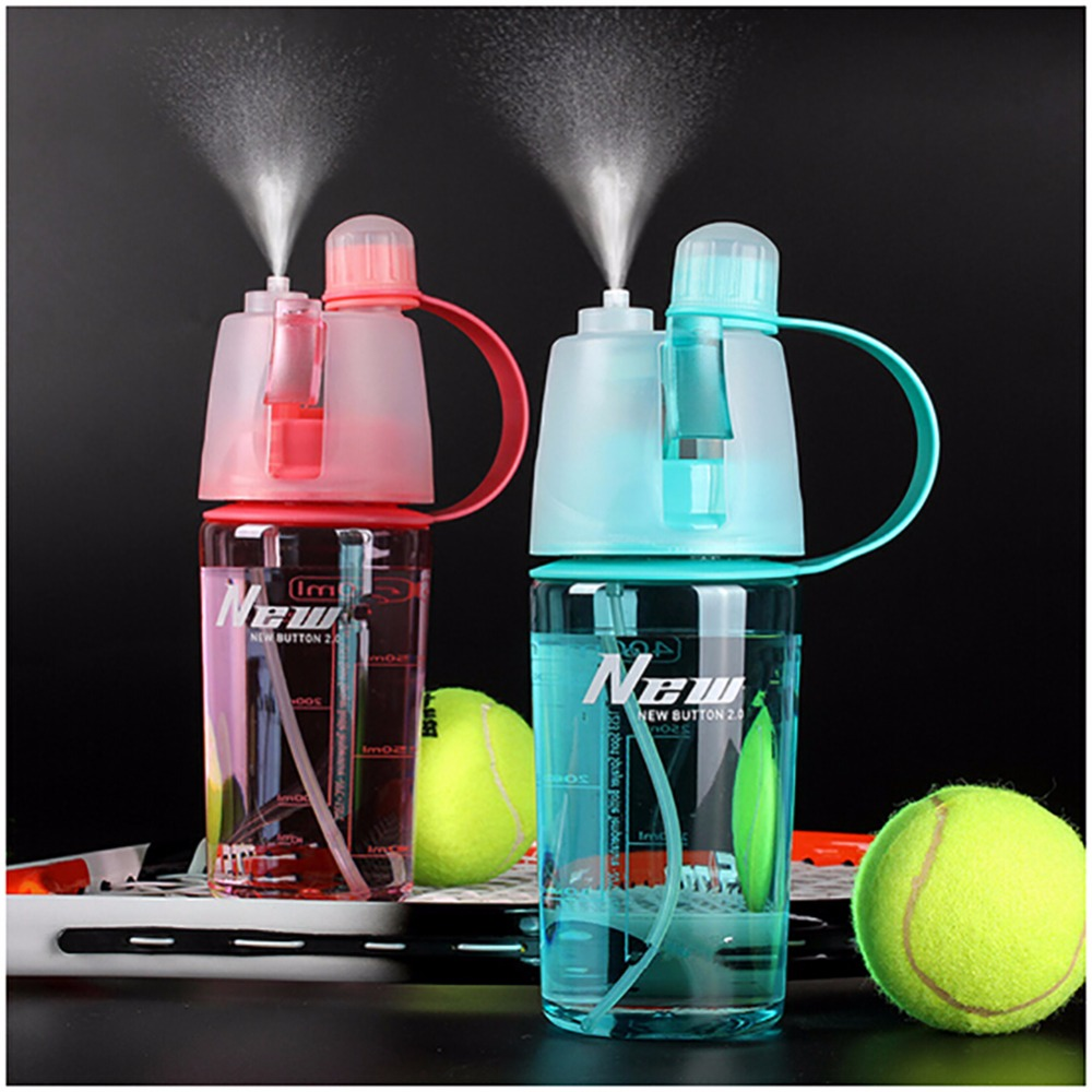 400ML/600ML Sport Water Bottle Spray Bottle Space Cup Leak Proof Moisturizing for Cycling Hiking Camping Gym Drinking Bottles