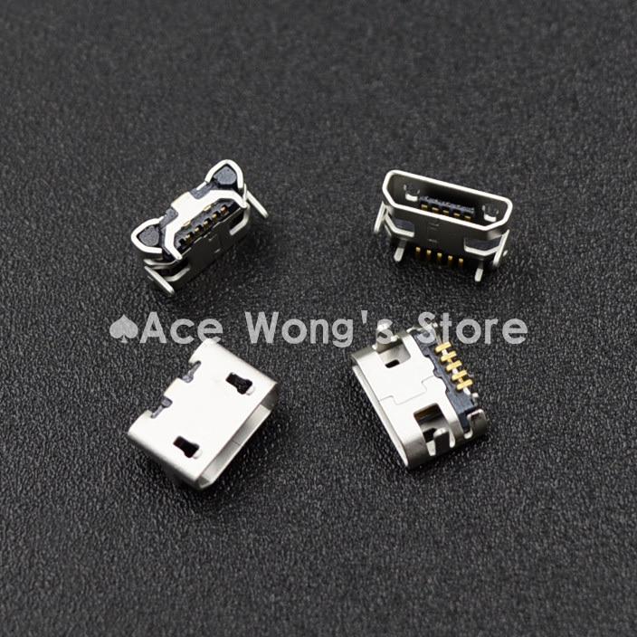100 pcs Micro USB 5 p, Cinq broches Micro USB jack, 5 Pins Micro USB connecteur