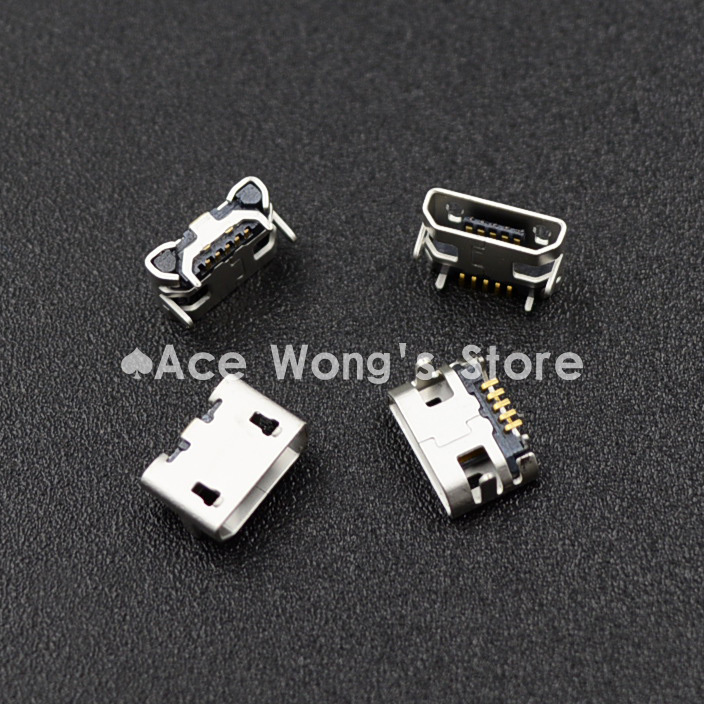 100pcs Micro USB 5P,5-pin Micro USB Jack,5Pins Micro USB Connector цены онлайн