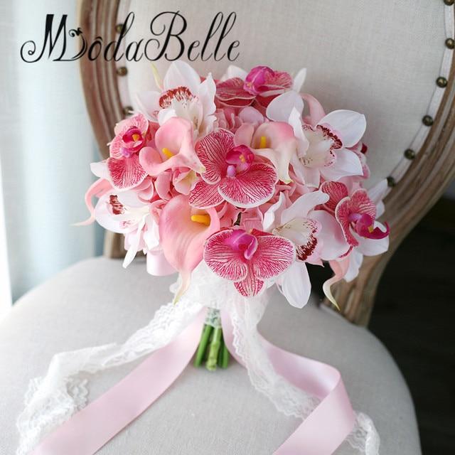 Bouquet Da Sposa Orchidee.Us 62 0 Modabelle Ramos De Boda Rosa Calla Lily Bouquet Da Sposa Orchidee Artificiale Hydrangea Wedding Lancio Di Fiori Buket 2017 In Modabelle