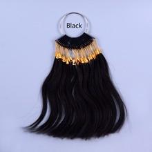 30 шт./лот человеческих натуральная цвет волос кольцо для человеческих волос и салон, окрашивание волос образец, может быть любого цвета красителя
