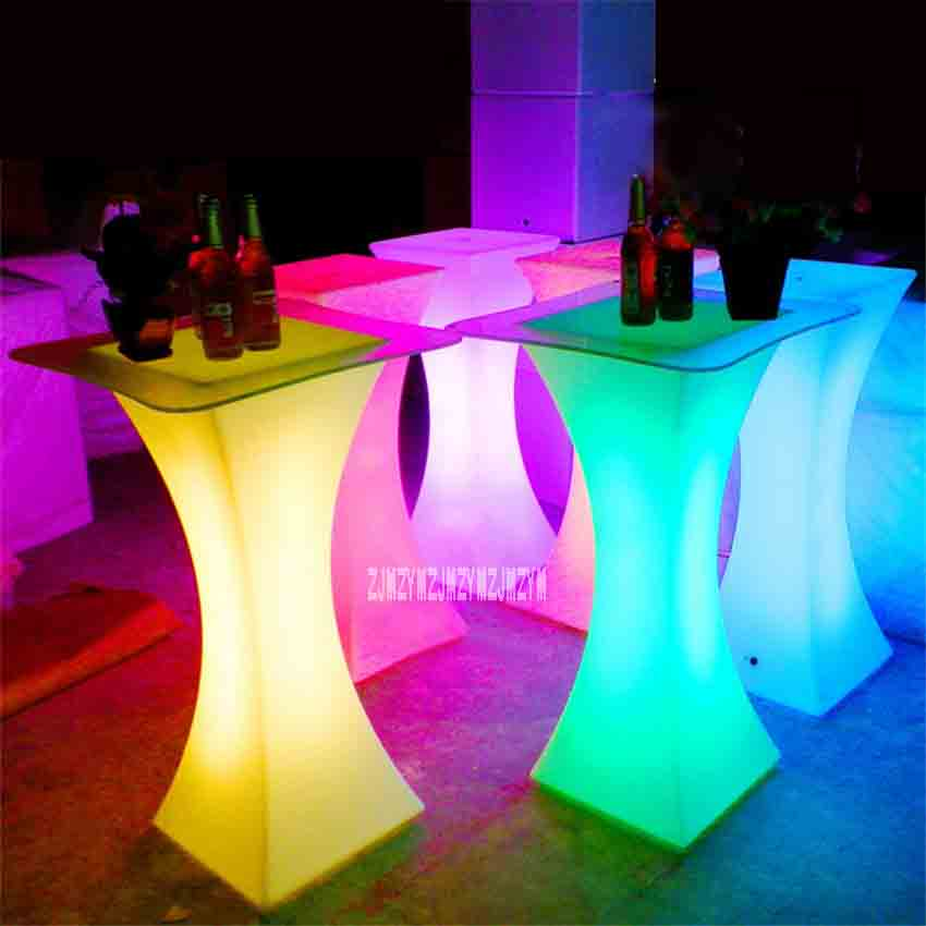 Xc-018 European Led Light Bar Table Rechargeable Led Illuminated Table Waterproof Lighted Up Coffee Table Bar Ktv Party Supply Non-Ironing Bar Tables