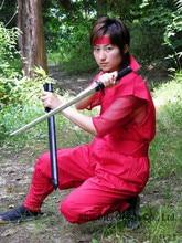 Top Quality Ninja Uniform Suit Top pants mask kerchief forearm portion do not include Ninja Shoes Free Shipping