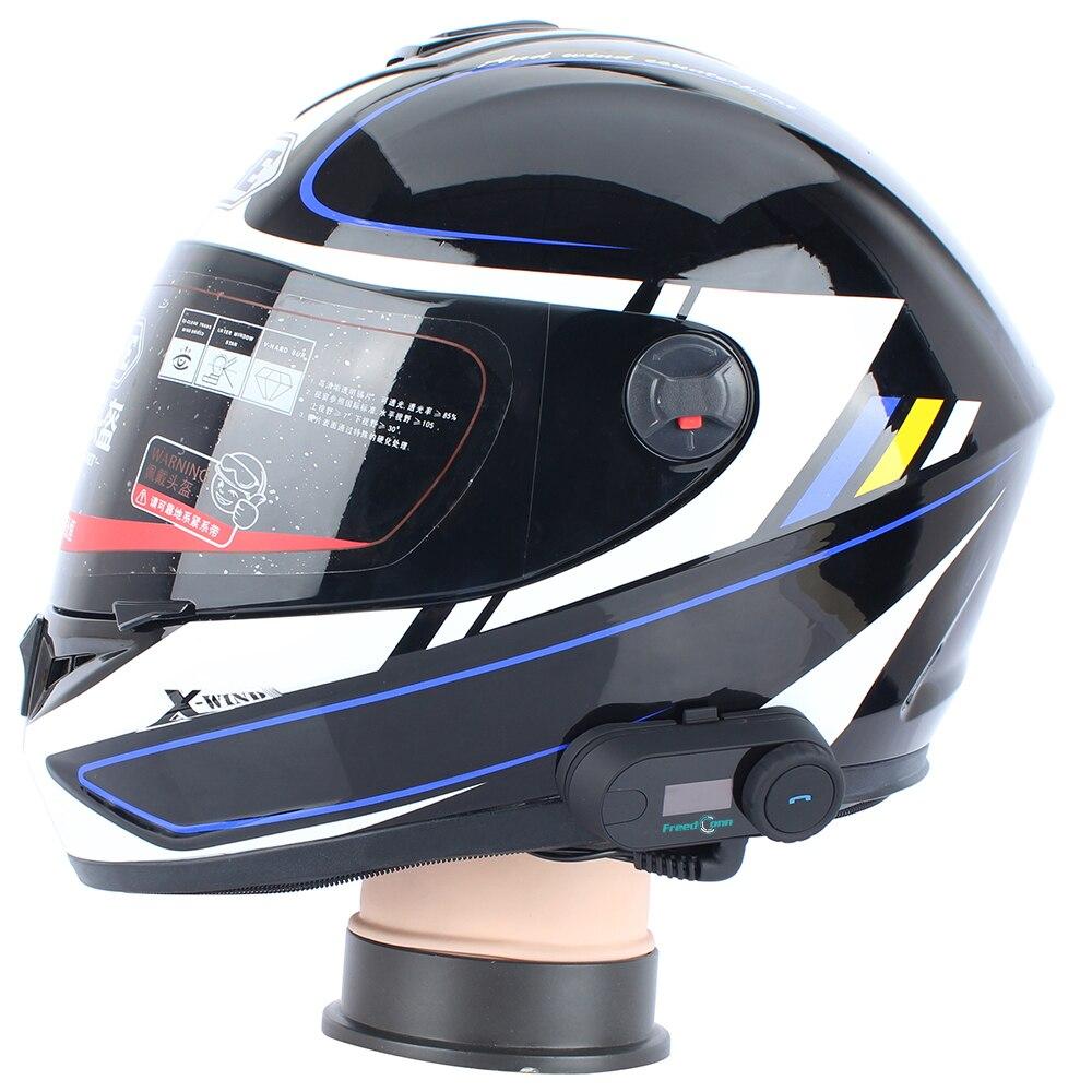 1pc TCOM SC Bluetooth Motorcycle Helmet Intercom Headset BT Interphone LCD Screen FM Radio Soft Microphone for integral Helmet in Helmet Headsets from Automobiles Motorcycles