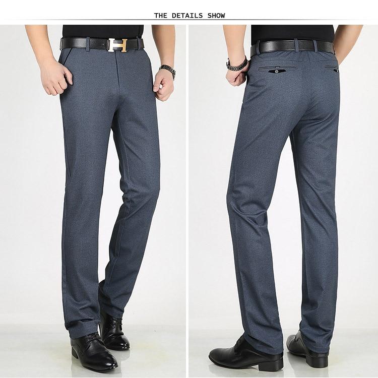 HTB11duhX5nrK1Rjy1Xcq6yeDVXar Classic Pants Men Suit Dress Casual Pants Men Straight Fit Business Work Office Formal Pants Big Size Autumn Men's Trousers Male