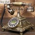 Европейский модный винтажный стационарный телефон revolve Dial телефоны в стиле ретро стационарный телефон для офиса дома отеля из смолы