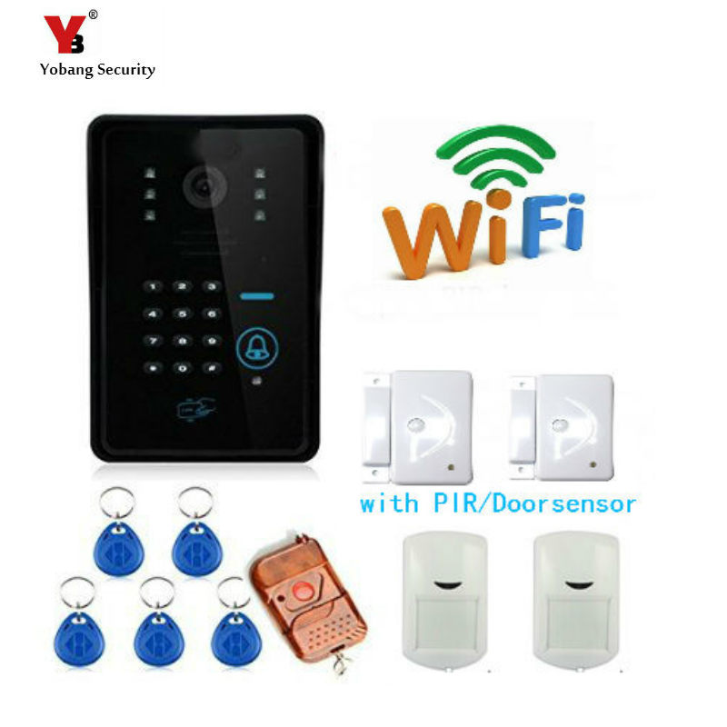 wifi network wireless ip camera remote home monitoring p2p video security surveillance in box Yobang Security WiFi IP Camera Wireless Network Video Intercom Visual Doorbell WiFi Remote Hidden Surveillance Camera Door Alarm