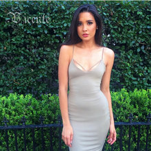 Mid-Year Clearance!!! Gorgeous Cross Straps Backless Mi Amore Series Shift Bodycon Bustier Dress VJ027