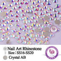 AB SS16 SS20 Non Hotfix Glass Strass Nail Art Crystal Rhinestone Flatback Crystal Stones And Crystals