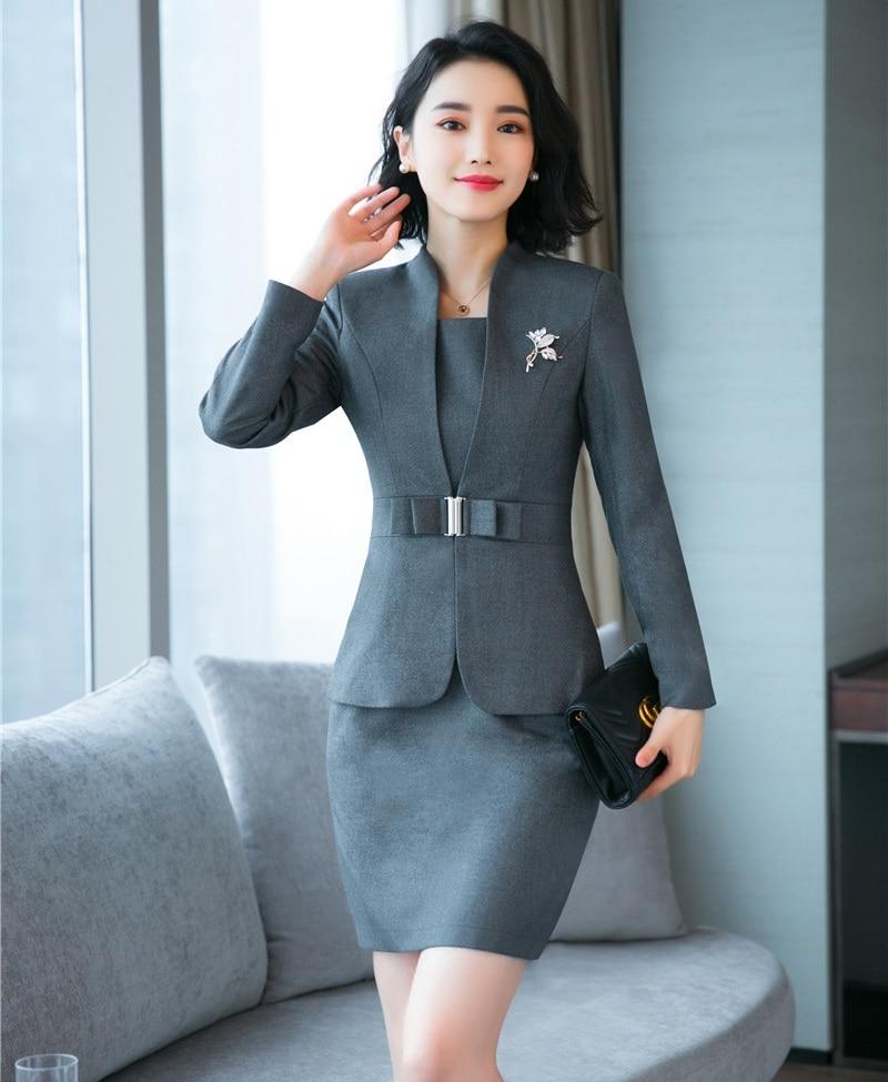 púrpura De Formales Oficina Oscuro marrón Alta Negocios Mujer Negro gris  Vestir Calidad Estilo Conjuntos Y Para Chaqueta Blazer Trajes ... f98e3621162