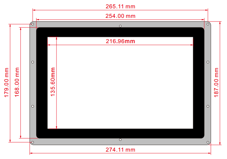 10.1inch-HDMI-LCD-B-with-Holder-dimension