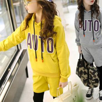 New 2020 Girls Set Clothes Kids Fashion Top Pant Two Piece Children Spring Suit Girls Clothes 4 5 6 7 8 9 10 11 12 14 Years Sale