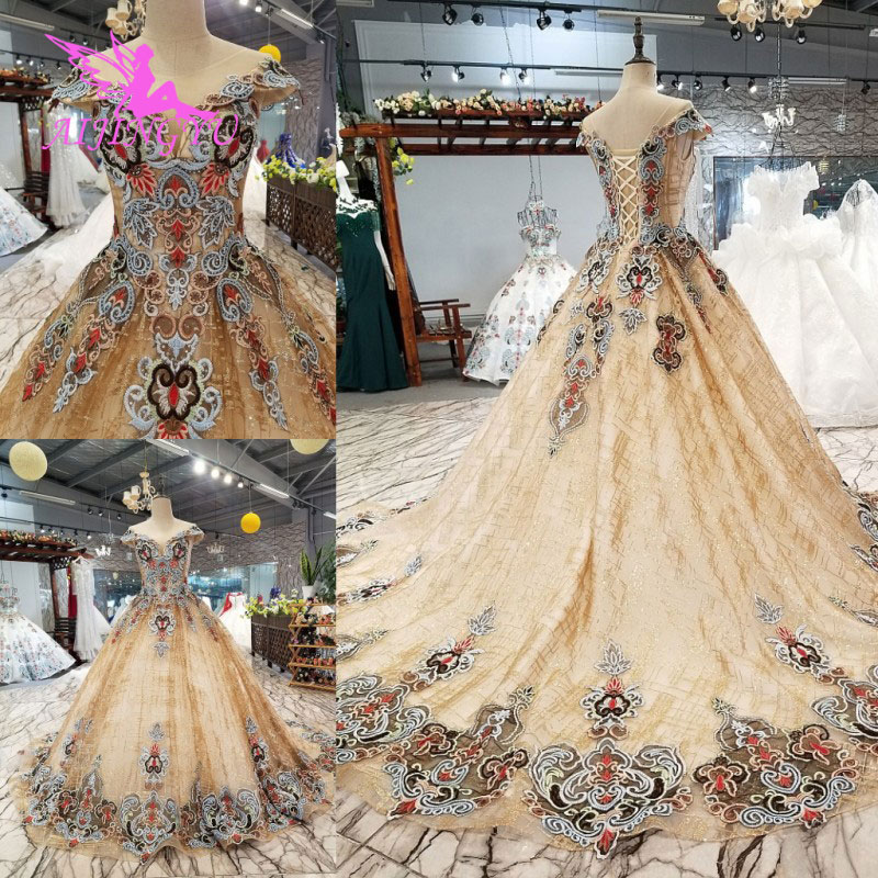 AIJINGYU Wedding Dresses Australia Gowns For Bride With Sleeve USA Turkish Best Sexy Lace Bridal Wedding Dress Real Images