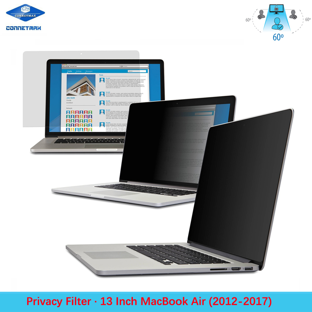 Anti-Glare Laptop Privacy Filter Blackout for Apple MacBook Air 13""