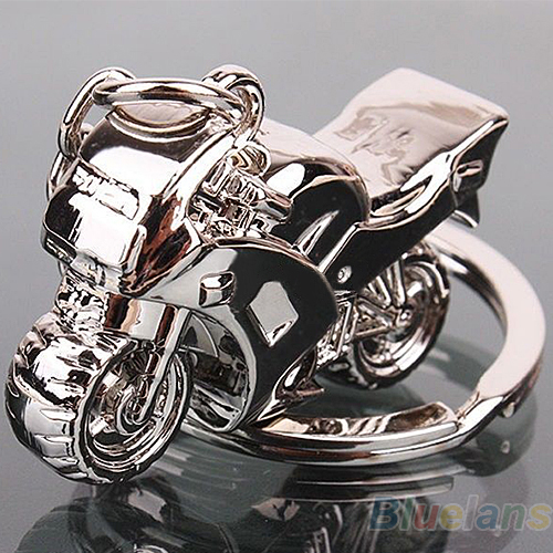 Bluelans Motorcycle Key Ring Chain Motor Silver Keychain Fashion Cute Lover