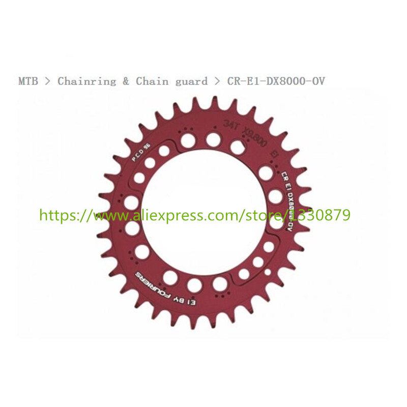 FOURIERS CR-E1-DX8000 oval MTB Chainring Chain guard 96 BCD Bicycle Narrow Wide Chainwheel Cycle Crankset 34-48T cnc alloy mtb bike bicycle chain bash guard mount chainring guide 30 40t p c d 104mm bike crankset protection