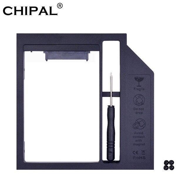 """CHIPAL Chất Lượng Cao Nhựa SATA 3.0 2nd HDD Caddy 9mm 9.5mm cho 2.5 """"SSD Trường Hợp Đĩa Cứng bao vây cho Máy Tính Xách Tay LẺ CD-ROM Optibay"""