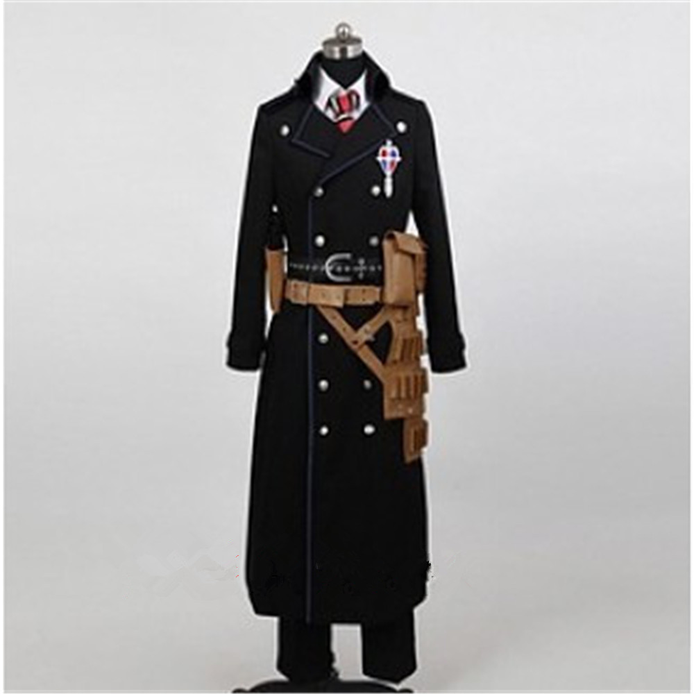 Anime Blue Exorcist Ao no Ekusoshisuto Cos Yukio Okumura Cosplay Man Woman Costume Coat+Shirt+Pants+Tie+Belt+Bag