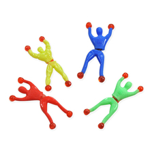 5pcs/lot Funny Novelty Products Spider-man Toy Slime Viscous Climbing Somersault Spiderman Party Favors Gift for Children