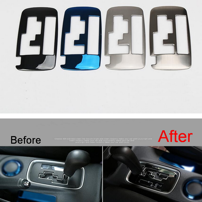 1 Pcs DIY Car Style New Stainless Steel Four Color Stall Panel Cover Case stickers for