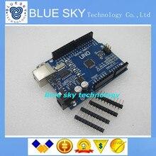 Бесплатный Shipipng 1 шт. ООН R3 MEGA328P CH340G для Arduino Совместимый Улучшенная версия, эксперт версия БЕЗ КАБЕЛЯ USB