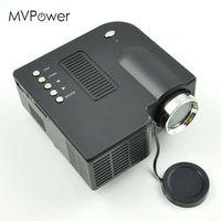 MVpower Mini Home Theater LCD Projectors 400 Lumens 1080P HD Multimedia HDMI AV Cable Remote Control