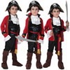 7 Sets Lot Free Shipping Kids Boys Pirate Costumes Halloween Masquerade Party Captain Jack Fancy Dress