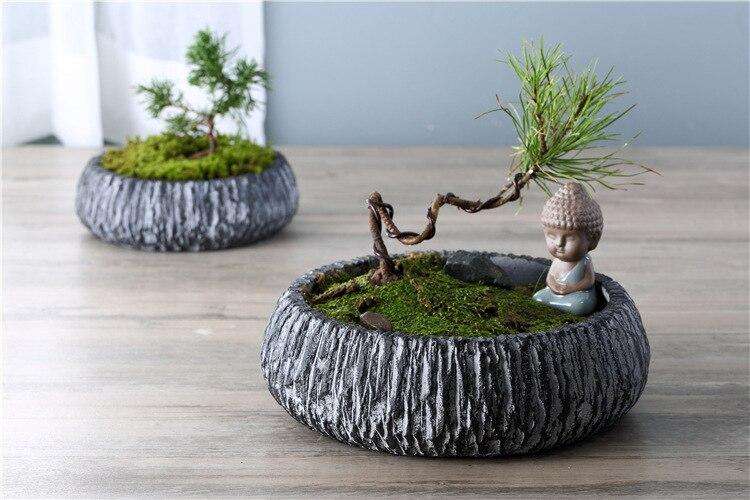 cemento flor macetas de jardín en casa suministros bandeja de