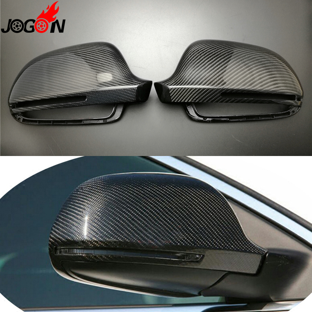 Carbon Fiber For Audi A3 S3 8P 09-10 / A4 S4 B8 8K 08-12 / A5 S5 B8 8T 07- 2009 Car Side Rearview Back Mirror Cover Replacement carbon fiber mirror cover for 07 09 audi a4 b8