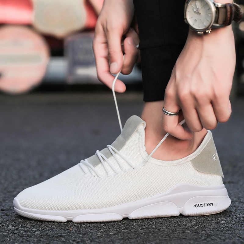 Giản dị giày cho nam giới Cao Chất Lượng Ánh Sáng Thời Trang Giày Thể Thao Thoải Mái Chạy Giày Thương Hiệu Giày Thoáng Khí Ngoài Trời giày lưu hóa