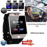 10pcs Lot DZ09 Bluetooth Smart Watch WristWatch With Camera For Iphone Android Phone Smartwatch VS U8
