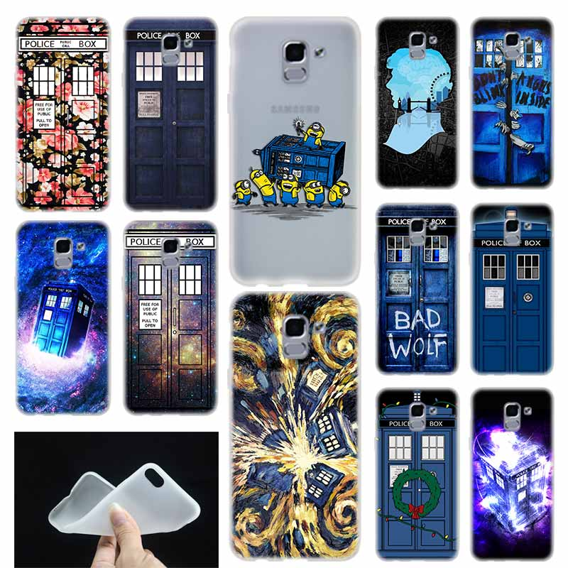 Case Cover Tpu Coque For Samsung Galaxy J6 J8 J3 J5 J7 J4 Plus 2018 2016 2017 Eu Prime Pro Ace Floral Tardis Tardis Doctor Who Good For Antipyretic And Throat Soother Phone Bags & Cases
