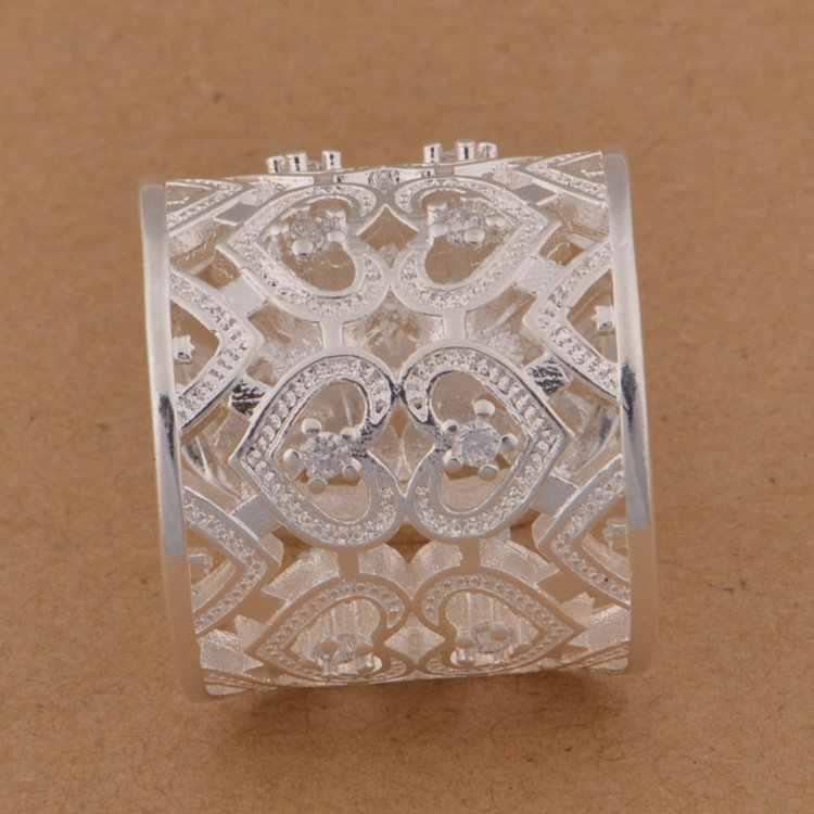 טבעות נחמד תכשיטים טבעות מתנת כסף מצופה PJ124