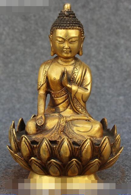 Tibetan Buddhism Bronze Seat Lotus Shakyamuni Sakyamuni Amitabha Buddha StatueTibetan Buddhism Bronze Seat Lotus Shakyamuni Sakyamuni Amitabha Buddha Statue