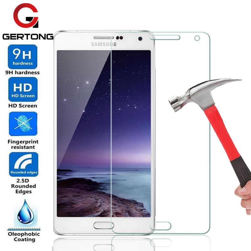 GerTong 9H الزجاج المقسى لسامسونج غالاكسي A5 A7 A3 J1 J3 J5 J7 S3 S4 S5 S6 جراند برايم G530 نوت 3 4 5 واقي للشاشة فيلم