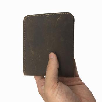 vintage short  wallet designer high quality card holder leather purse wallets
